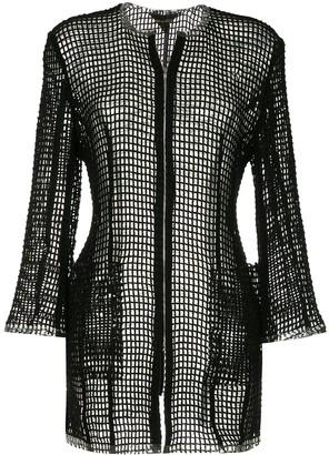 Comme Des Garçons Pre-Owned Open Knit Zipped Jacket