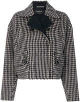 Rochas small check short jacket
