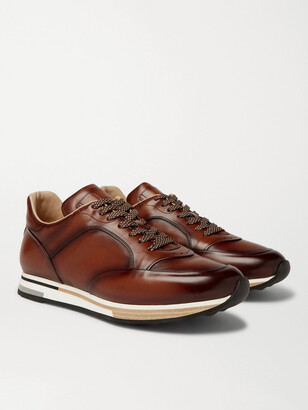 Dunhill Duke Leather Sneakers - Brown