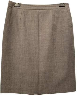 Valentino Red Grey Wool Skirt for Women