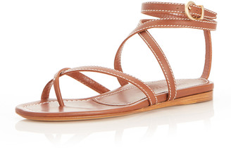Marion Parke Harvey Calfskin Flat Gladiator Sandals
