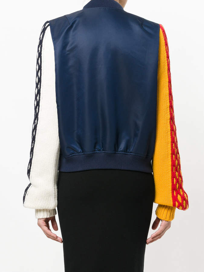 J.W.Anderson Knitted sleeve bomber jacket