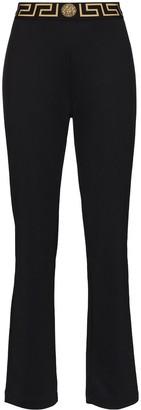 Versace Greca-border flared track pants