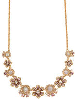 Marchesa Studded Floral Necklace