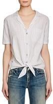 Equipment Keira Tie Stripe Shirt
