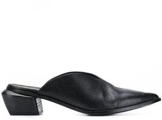Marsèll Black Leather Mules