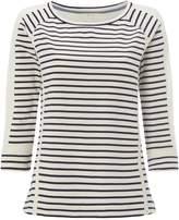 White Stuff Lace Stripe Jersey Tee