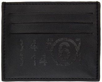 MM6 MAISON MARGIELA Black Faux-Leather Logo Card Holder