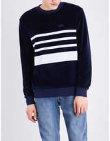 Stussy Striped velvet sweatshirt