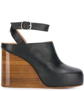 Maison Margiela wooden wedge heeled mules
