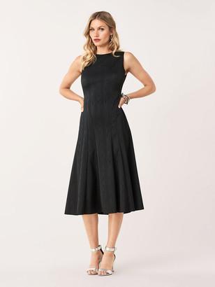 Diane von Furstenberg Clemintine Stretch Moire A-Line Dress