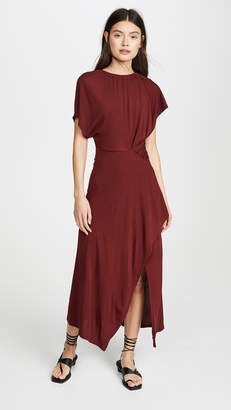 Yigal Azrouel Asymmetric Shirred Dress