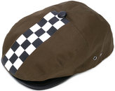 DSQUARED2 Damier hat - men - Cotton/Lamb Skin - S