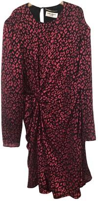 Saint Laurent Red Silk Dresses