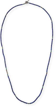 M. Cohen Men's Mini Gemstone Beaded Necklace, Blue