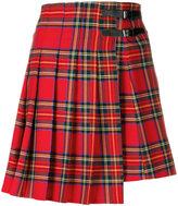 P.A.R.O.S.H. tartan pleated skirt - women - Spandex/Elastane/Virgin Wool - XS