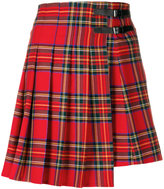 P.A.R.O.S.H. tartan pleated skirt