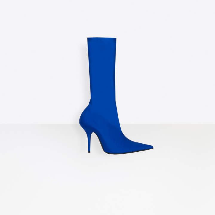 Balenciaga Extreme pointed toe jersey crepe booties