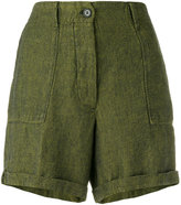 Forte Forte tweed shorts - women - Cotton/Linen/Flax - 0