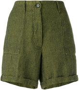 Forte Forte tweed shorts - women - Cotton/Linen/Flax - II