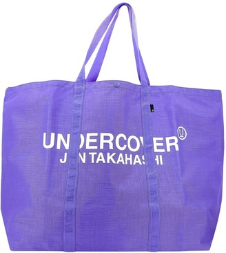 Undercover Logo Print Large Tote Bag