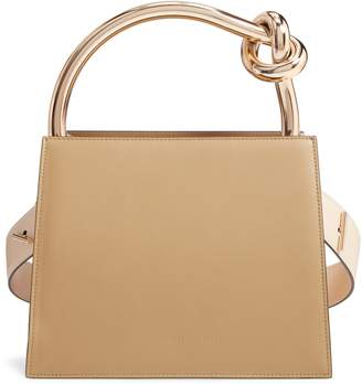 Benedetta Bruzziches Small Anais Calfskin Leather Top Handle Bag