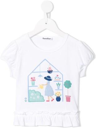 Familiar greenhouse print T-shirt