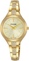 Pulsar Womens Gold Tone Bracelet Watch-Pm2242