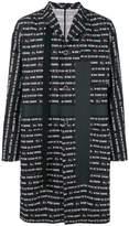 Sacai text print coat