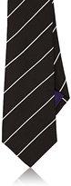 Ralph Lauren Purple Label Men's Fine-Striped Woven Silk Necktie-BLACK