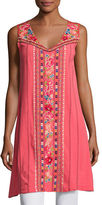 Johnny Was Rina V-Neck Embroidered Tunic