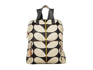 Orla Kiely Solid Stem Print Backpack Tote