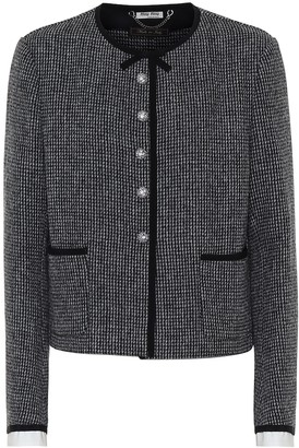Miu Miu Embellished tweed jacket
