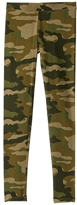 crewcuts by J.Crew Full Leggings Cotton Lycra Camo (Toddler/Little Kids/Big Kids) (Tuscan Olive) Girl's Casual Pants