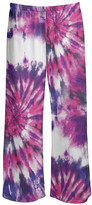Lily Women's Casual Pants PRP - Purple & Pink Tie-Dye Sunburst Palazzo Pants - Women & Plus