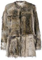 Stella McCartney Fur Free Fur Elina coat - women - Cotton/Modacrylic/Polyester/Viscose - 38