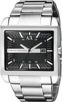 Armani Exchange A|X Men's AX2200 Silver Stainless-Steel Quartz Watch with Dial