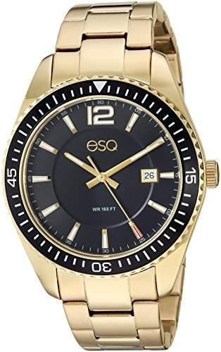 ESQ Men's 'Dress' Quartz Stainless Steel and Gold Plated Casual Watch(Model: 37ESQE16101A)