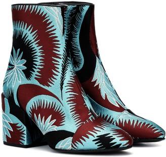 Dries Van Noten Jacquard ankle boots