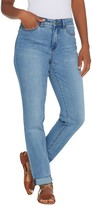 Denim & Co. Modern Denim 5-Pocket Cuffed Girlfriend Jeans