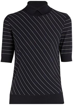 Giorgio Armani Single Jersey Stripe Wool Sweater