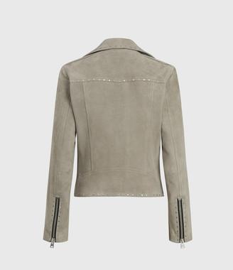 AllSaints Dalby Western Suede Biker Jacket