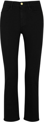 Frame Le High Straight Black Jeans