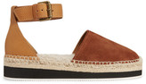 See by Chloe Shearling-lined Suede And Leather Espadrilles - Tan