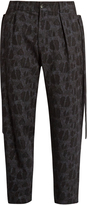 Damir Doma Picasso wool and cotton-blend jacquard trousers
