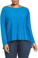 Eileen Fisher Merino Jersey Boxy Top (Plus Size)
