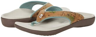 Spenco Yumi Floral Cork (Ink Blue) Women's Sandals