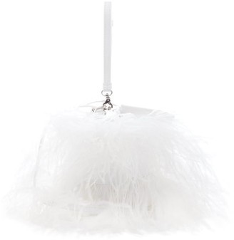 Marques Almeida Feather-embellished Leather Cross-body Bag - White