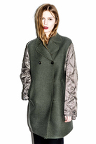 3.1 Phillip Lim Two Button Peacoat with Nylon Quilted Sleeves
