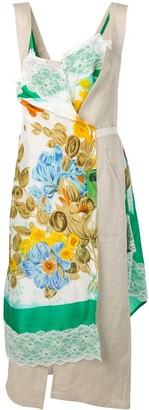 Junya Watanabe Patchwork Wrap Dress